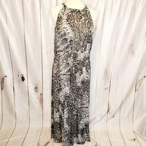 LANE BRYANT Snakeskin Print Halter Dress 18/20
